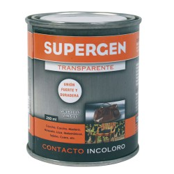 Pegamento Supergen Incoloro  250 ml.