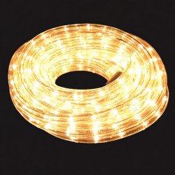 Luces Navidad Tubo Luz Blanca Exterior  Ip44 Rollo 10 Metros