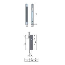 Barra Zirconio 28 mm. x 2,5 Metros Niquel Mate