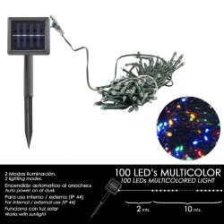 Luces Navidad Solar 100 Leds Multicolor Interior / Exterior (IP44)