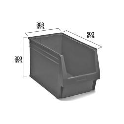 Gaveta Apilable Gris Nº59 500x303x300 mm. (5/6)