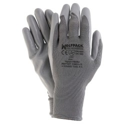 """Guantes Nitrilo / Nylon Glovex con Colgador 10"""" (Par)"""