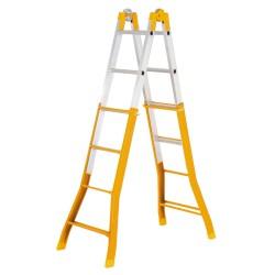 Escalera Aluminio 2 Tramos  7+7 Peldaños