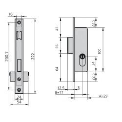 Tela Mosquitera Fibra Vidrio Gris 18x16/80 cm. Rollo 50 metros.