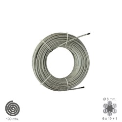 Cable Galvanizado   8 mm. (Rollo 100 Metros) No Elevacion