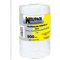 Cuerda Trencilla Polipropileno Blanco (Bobina 200 Metros)